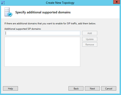 create new topology-specify additional supported domains