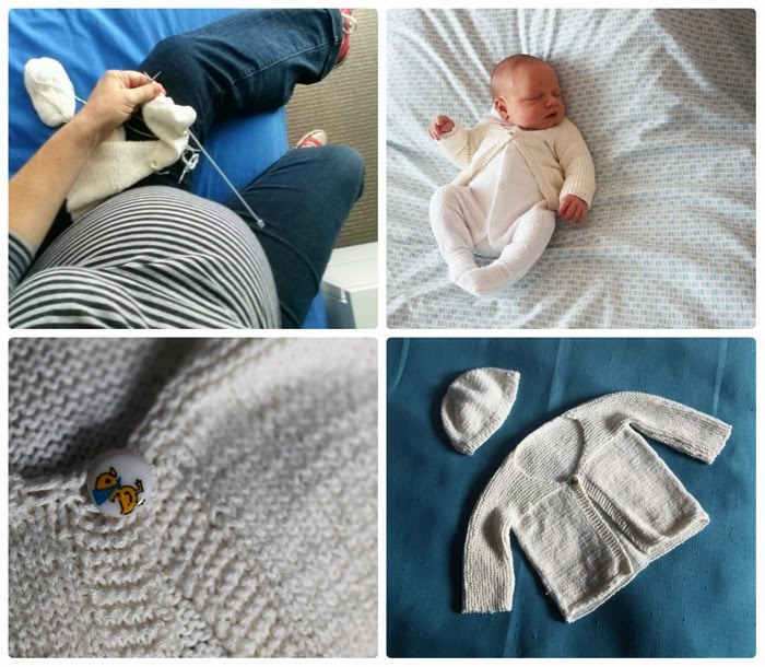 newborn bamboo knitted cardi and cap