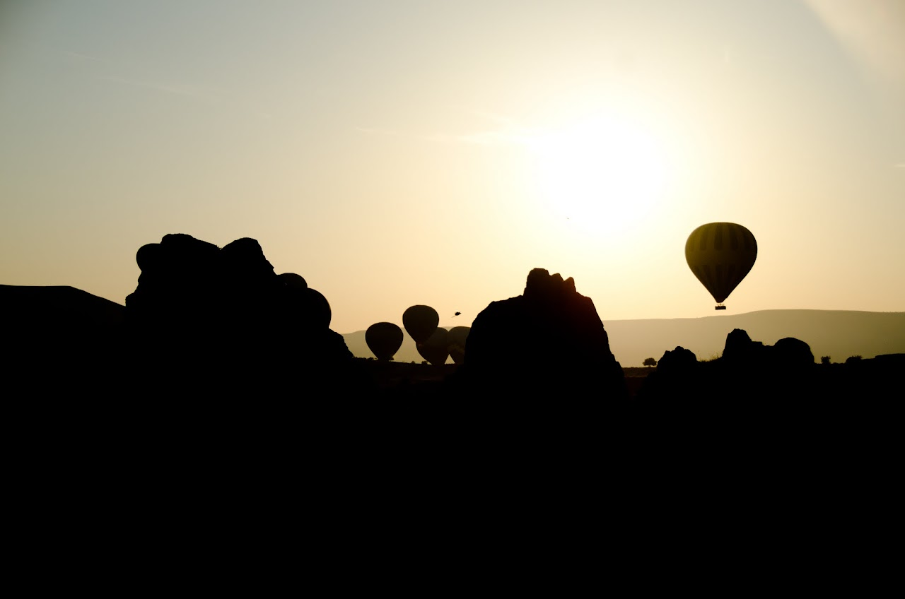 Hot air balloon silhouettes