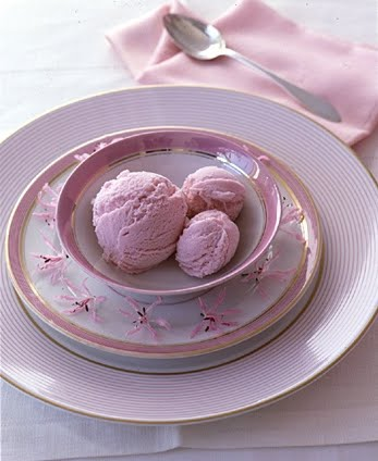 Pink icecream. (Martha Stewart Living)