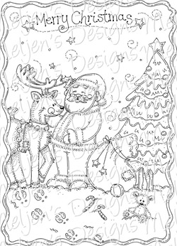 Meljens Designs Merry Christmas Coloring Page FREEBIE