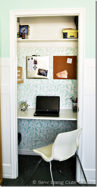 Finished closet office