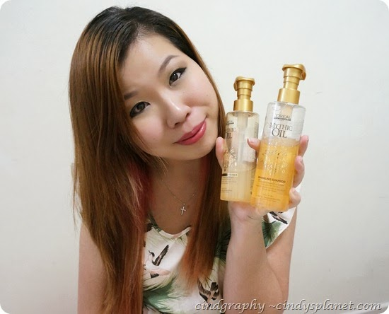 Loreal Mythic Oil Souffle dor sparkling shampoo and conditioner
