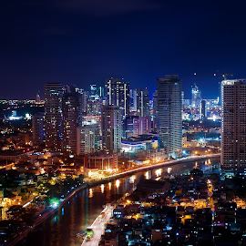 Earth Hour by Alne Anthony Rufo - City,  Street & Park  Skylines ( cityscapes, building, skyline, hotel, philippines, nightscape, city, night )
