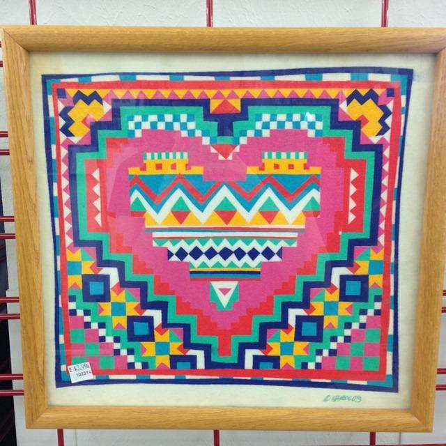 thriftscorethursday sand art heart