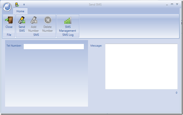 Blog SMS screen