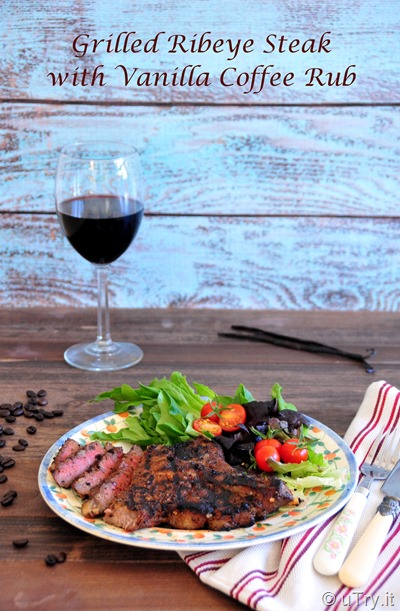 Grilled Ribeye Steaks with Vanilla Coffee Rub and a Giveaway!  http://uTry.it