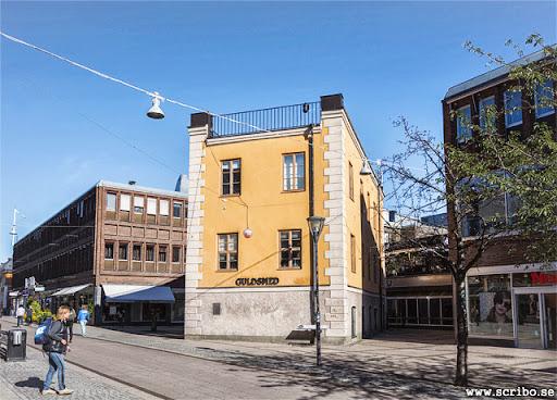 Svartbäcksgatan och kv S:t Per med Celsiushuset