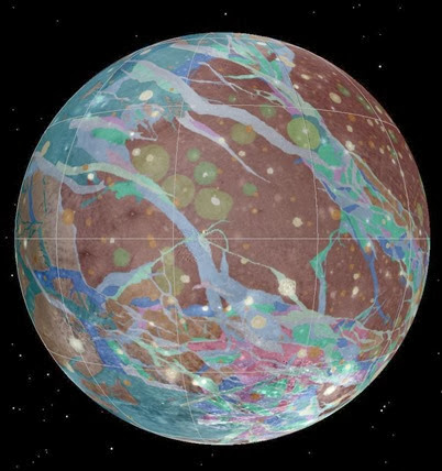 mapa geológico de Ganimedes