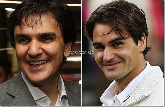 Gabriel Chalita e Roger Federer