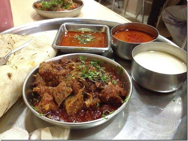 mutton masala thali