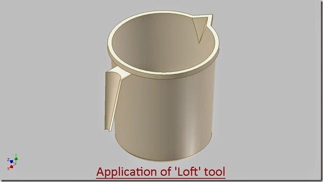 Application of 'Loft' tool