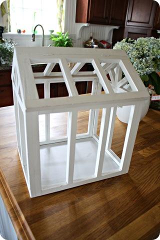 white terrarium