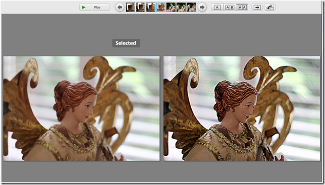 Side by Side View during editing