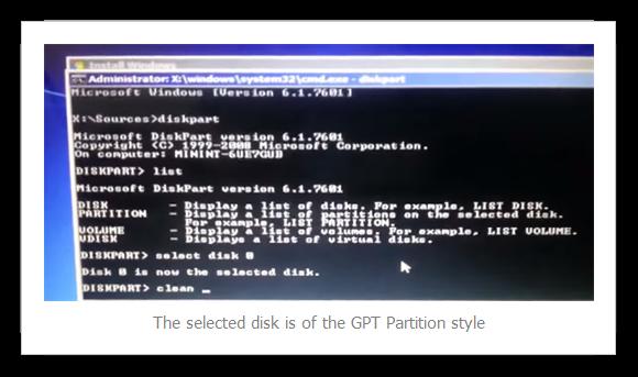CMD Diskpart clean