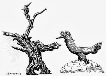 Vecchio albero e giovane gallina (NV 2006)