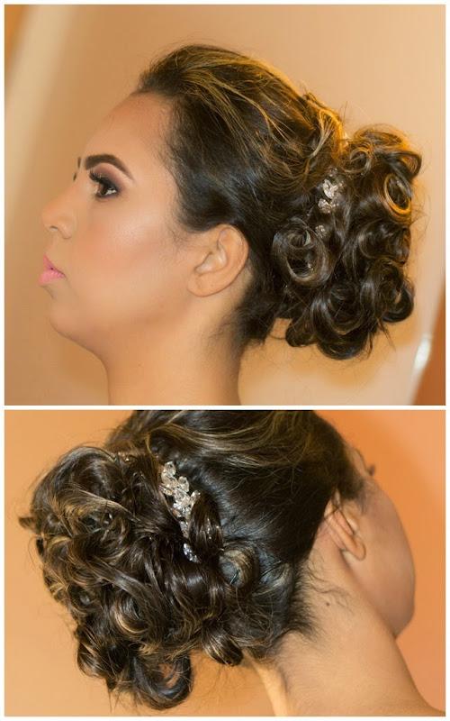 maquiagem e penteado para noiva