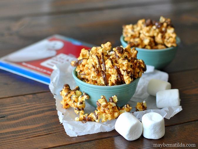 Chocolate Drizzled Peanut Butter Popcorn recipe