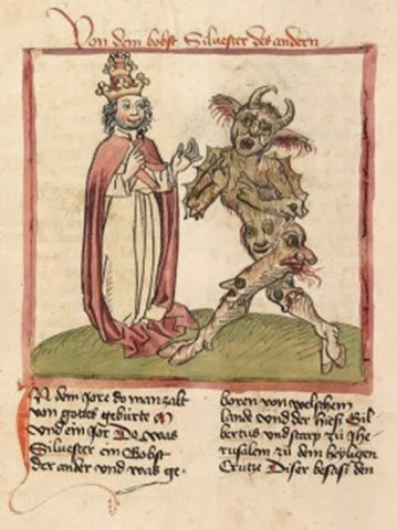 448px-Silvester_II._and_the_Devil_Cod._Pal._germ._137_f216v-e1307723922770