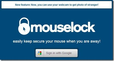 MouseLock associare la webapp all'account Google