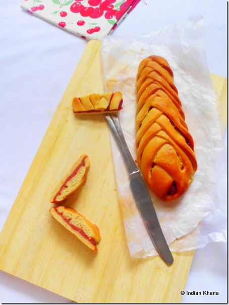 braided bread with beetroot beets pesto recipe