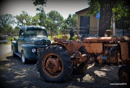 Old truck & tractor at the winery