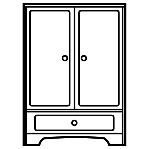 Dibujos de roperos para colorear - Imagui