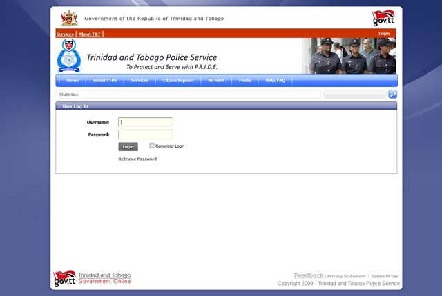 Police Stats page