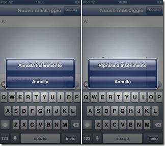 Cancella o ripristina velocemente il testo digitato nei Messaggi e SMS