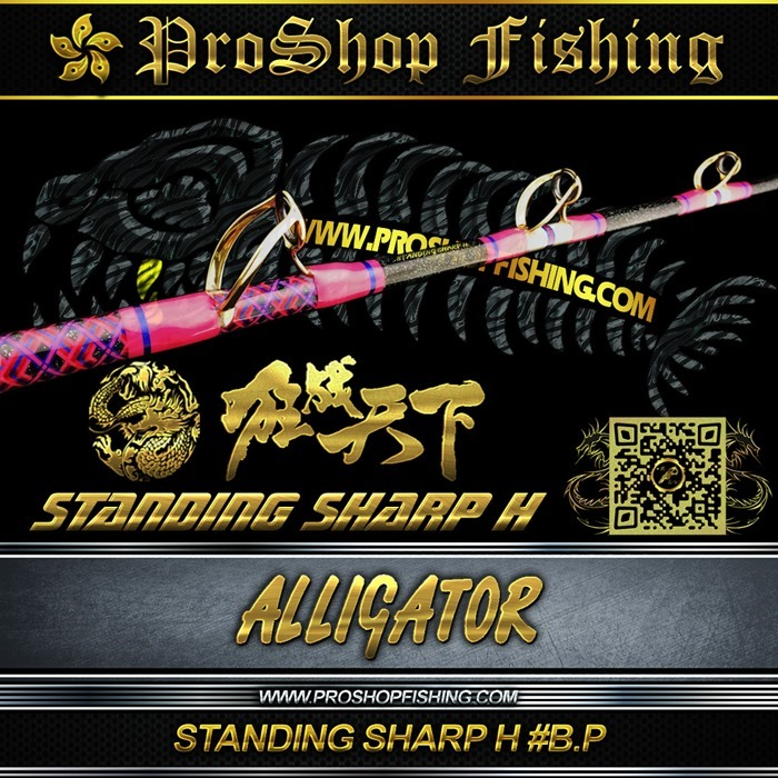 ALLIGATOR STANDING SHARP H #B.P.4