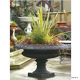 Szeroka waza żeliwna, PL56, wys 85cm, śr 150cm, baza 52x52cm, waga 225kg