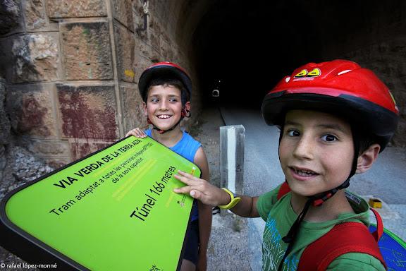 Via Verda de la Terra Alta.Antiga via ferria de la Val de Zafan (Alcanyis/Alcaniz).Prat de Comte, Terra Alta, Tarragona