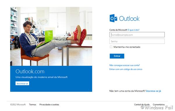 Novo serviço de email da Microsoft, Outlook.com