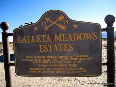 Galleta Meadows sign