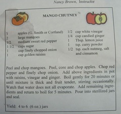Cape Cod Columbus weekend 2012..Sat. Green Brier Jam Kitchen Mango Chutney recipe