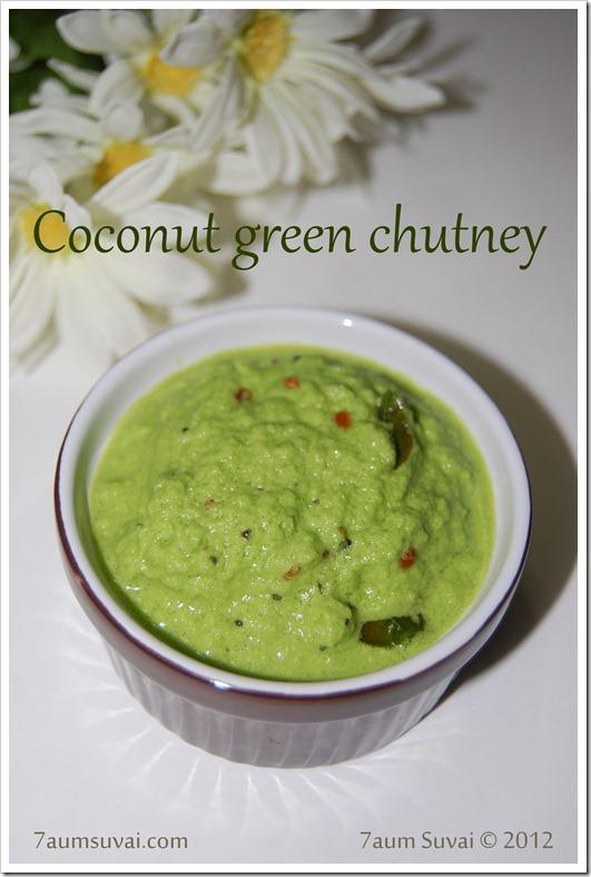 Coconut green chutney