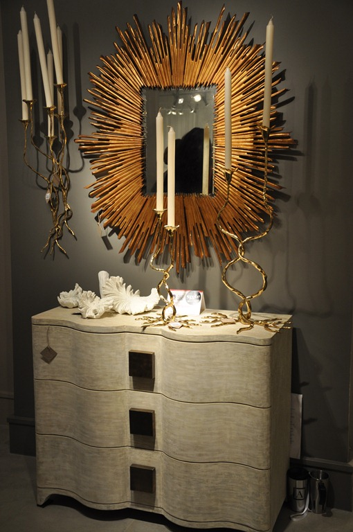Studio A Gold Sun Burst Mirror