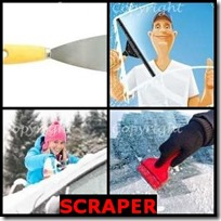 SCRAPER- 4 Pics 1 Word Answers 3 Letters