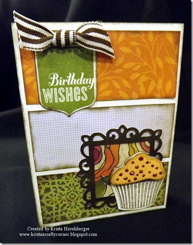 Flirty Cupcake card using Artiste