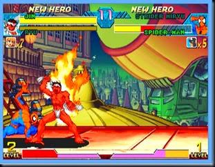 Jin, pegando fogo, Marvel vs Capcom