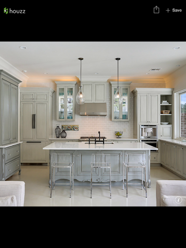 Kitchen Cabinets 2015 peonies and orange blossoms: taupe and greige and grey kitchens
