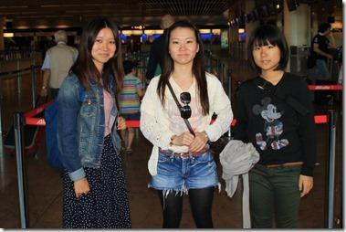 Kanoko, Cocolo en Miu in Brussel Nationaal Luchthaven