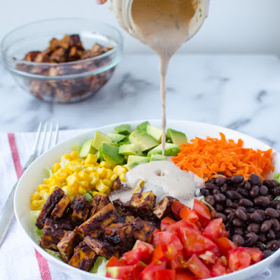 BBQ Tofu Chopped Salad