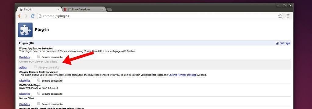 disattivare il lettore di PDF integrato in Chrome