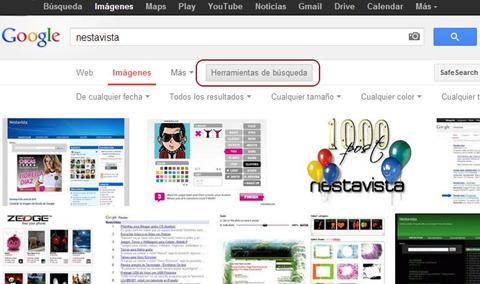 Personalización en la búsqueda de imágenes de Google