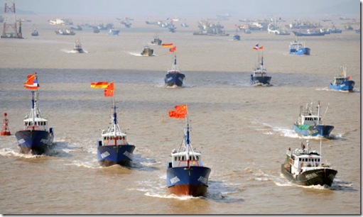 Chinese Fishing boats