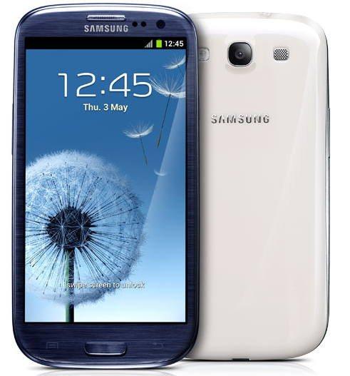 Samsung Galaxy S3 frente y atras