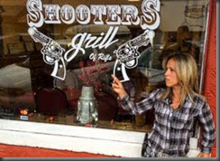 Lauren Bobert and her husband own Shooters Grill in Rifle, Colorado, where most of the staff open carry handguns.