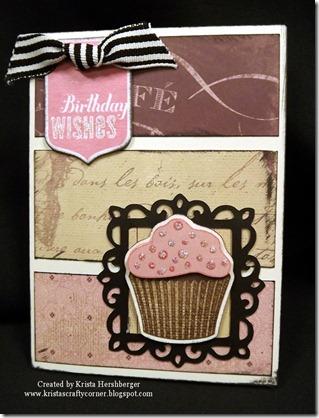 La Belle Vie cupcake Artiste card