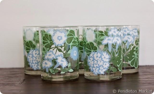 Briard_BlueandGreen_Floral_Glassware